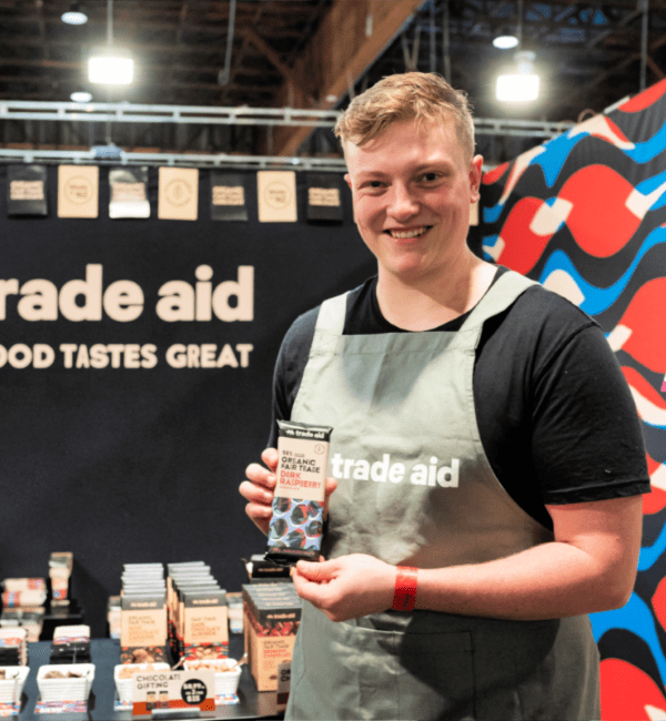 Trade Aid Sampling at the Auckland Food Show
